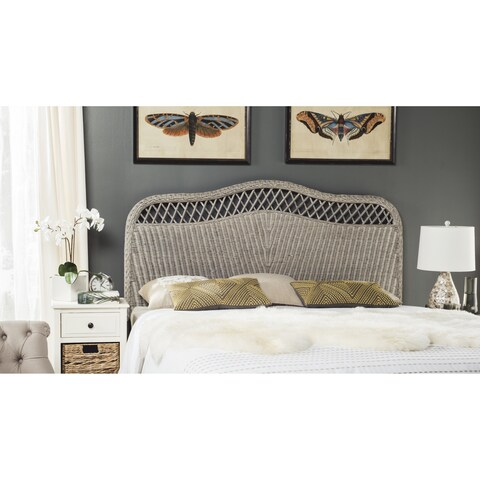 Safavieh Sephina Antique Grey Rattan Headboard (Queen)
