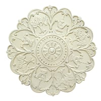 The Curated Nomad Lotta Shabby White Medallion Wall Decor
