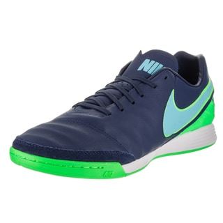 Nike Men's Tiempo Mystic V IC Coastal Blue Synthetic Leather Indoor Soccer Shoe