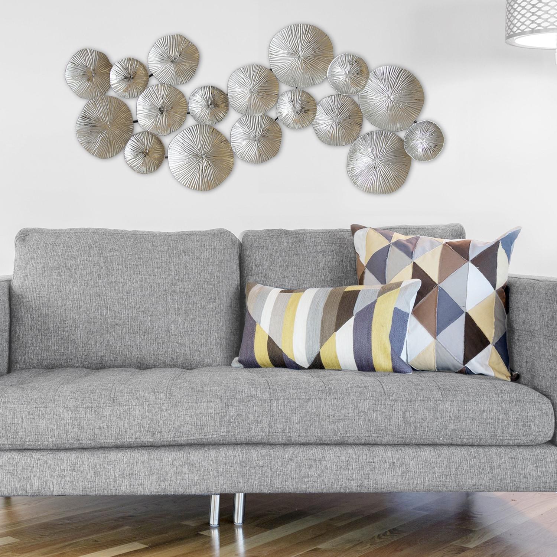Carson Carrington Askoy Silver Circles Wall Decor Overstock 22885819