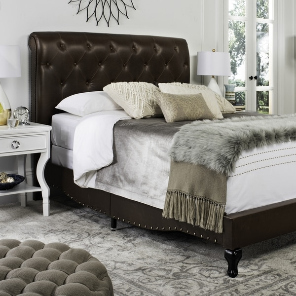 Shop Safavieh Hathaway Brown Bed Full Free Shipping