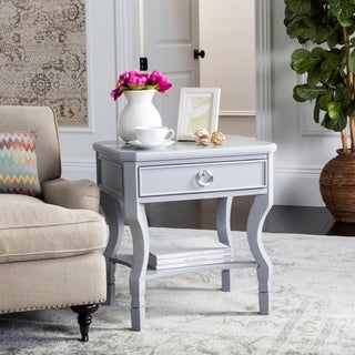 Safavieh Alaia One Drawer Grey / Grey Night Stand
