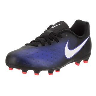 Nike Kids' Jr Magista Ola II Fg Black/ Blue Soccer Cleats