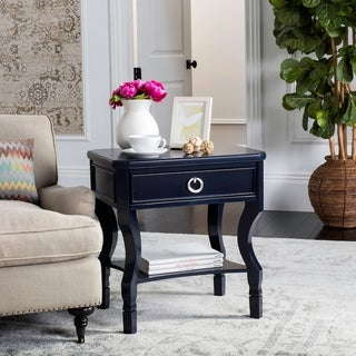 Safavieh Alaia One Drawer Navy / Navy Night Stand