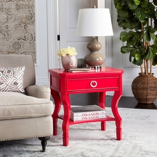 Safavieh Alaia One Drawer Red Night Stand