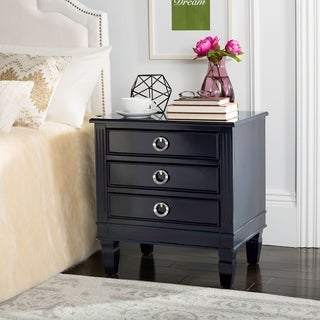 Safavieh Kira Three Drawer Navy / Navy Night Stand