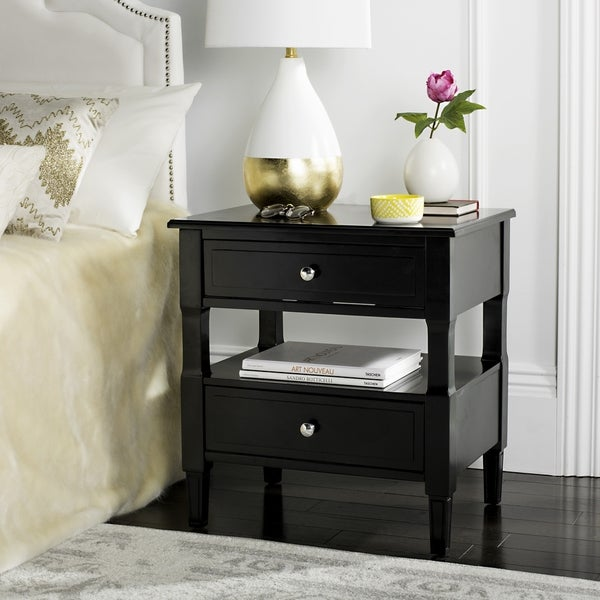20 Hassle Free Zen Dining Room Decorating Ideas: Shop Safavieh Jenson Two Drawer Black / Black Night Stand