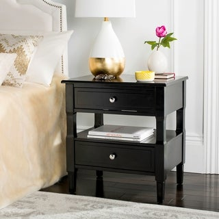Safavieh Jenson Two Drawer Black / Black Night Stand