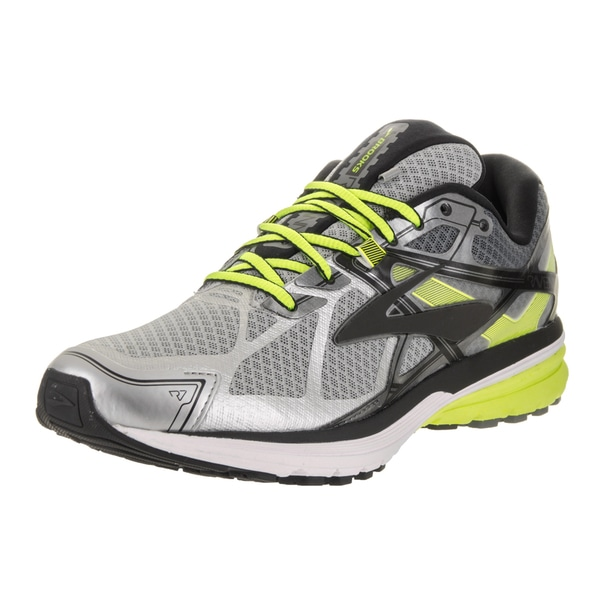 ebdfc859b66 Shop Brooks Men s Ravenna 7 Grey Synthetic Leather Running Shoes ...