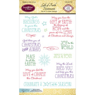 JustRite Papercraft Clear Stamps 4X6-Gift Of Faith