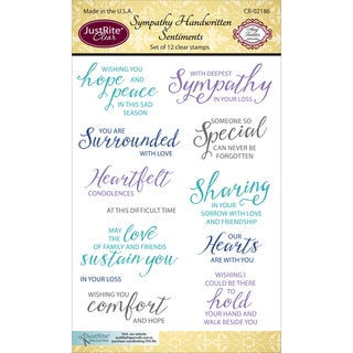 JustRite Papercraft Clear Stamps 4X6-Sympathy Handwritten Sentiments