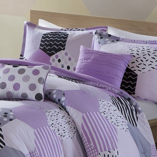 Urban Habitat Kids Evie Purple Cotton Printed 5-piece Comforter Set
