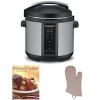Cuisinart CPC-600 1000W 6qt. Pressure Cooker + The Pressure Cooker Gourmet + Oven Mitt (Refurbished)