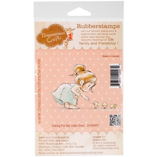 "DreamerlandCrafts Cling Stamp 4""X7""-Caring For My Little Ones"