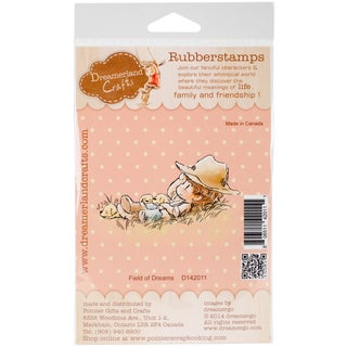 """DreamerlandCrafts Cling Stamp 4""""X7""""-Field Of Dreams"""