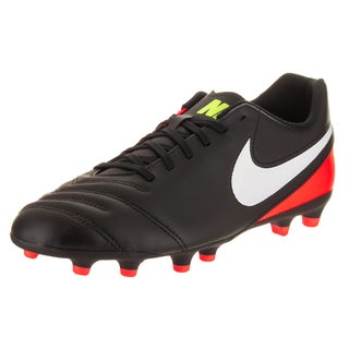 Nike Men's Tiempo Rio III Fg Black Synthetic Leather Soccer Cleats