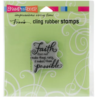 Stampendous Cling Stamp 3.5X4 -Faith Possible