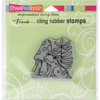 Stampendous Cling Stamp 3.5X4 -Garden Frog
