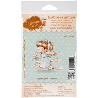 """DreamerlandCrafts Cling Stamp 4""""X7""""-Stretching Out"""