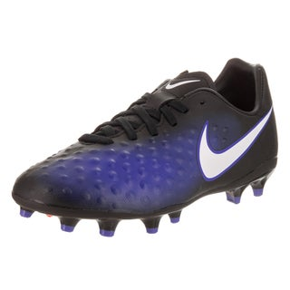Nike Kids JR Magista Opus II Fg Black Synthetic Leather Soccer Cleat