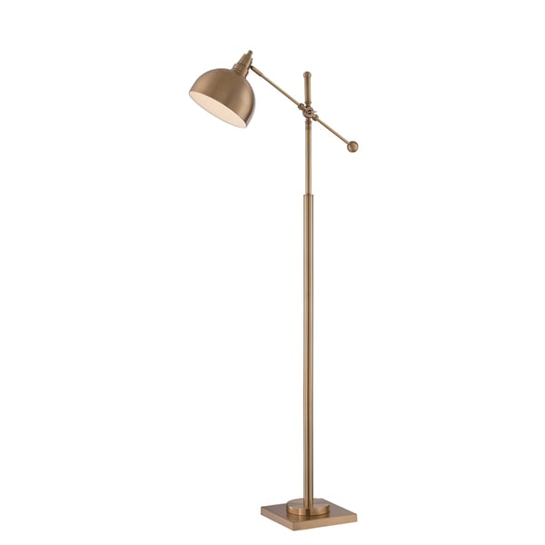 Lite Source Brushed Brass 1-Light Cupola Floor Lamp