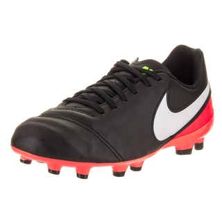 Nike Kids' JR Tiempo Legend VI Fg Black Synthetic Leather Soccer Cleats