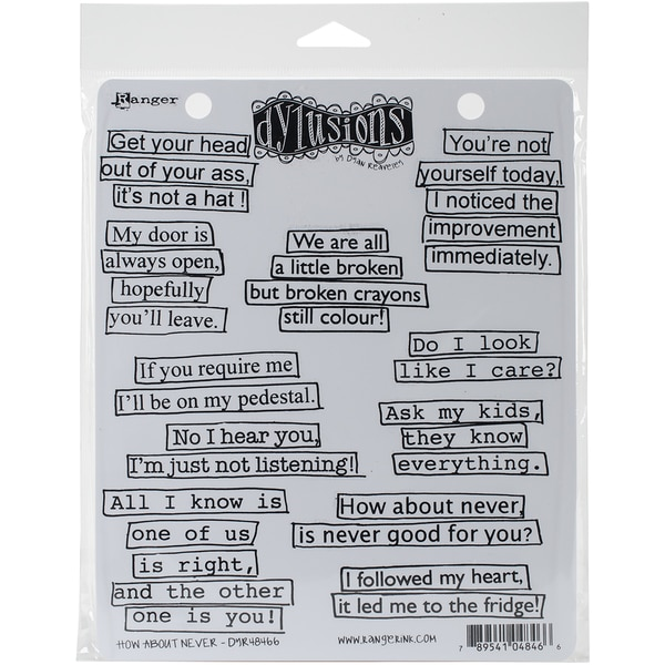 Dyan Reaveleys Dylusions Cling Stamp Collections 8.5x7-merlady
