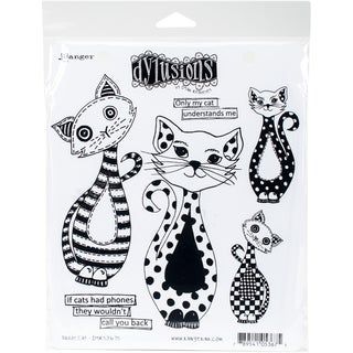 Dyan Reaveley's Dylusions Cling Stamp Collections 8.5X7-Puddy Cat