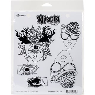 Dyan Reaveley's Dylusions Cling Stamp Collections 8.5X7-The Eyes Have It