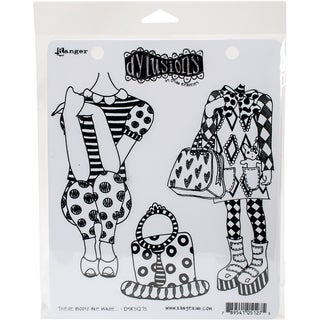 Dyan Reaveley's Dylusions Cling Stamp Collections 8.5X7-These Boots Are Made...
