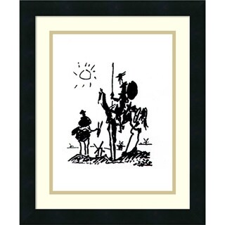 Framed Art Print 'Don Quixote' by Pablo Picasso 16 x 19-inch