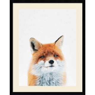 Framed Art Print 'Fox' by Tai Prints 23 x 29-inch