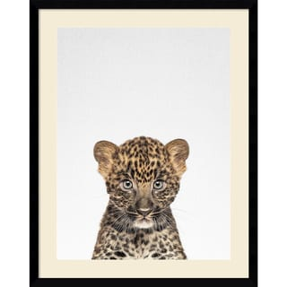 Framed Art Print 'Leopard' by Tai Prints 23 x 29-inch
