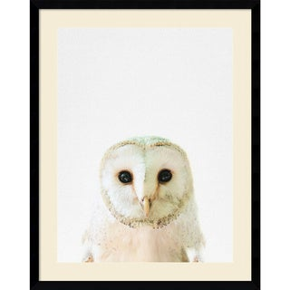 Framed Art Print 'Owl' by Tai Prints 23 x 29-inch