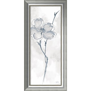 Framed Art Print 'Solitary Dogwood II Gray (Floral)' by Chris Paschke 19 x 40-inch
