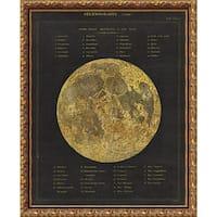 Framed Art Print 'Astronomical Chart I (Moon)' by Wild Apple Portfolio 20 x 25-inch