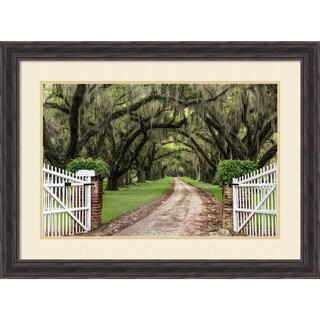 Framed Art Print 'Plantation Road' by Daniel Burt 31 x 23-inch