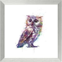 Framed Art Print 'Owl' by Veebee 18 x 18-inch