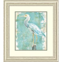 Framed Art Print 'Coastal Egret II v2' by Sue Schlabach 25 x 28-inch
