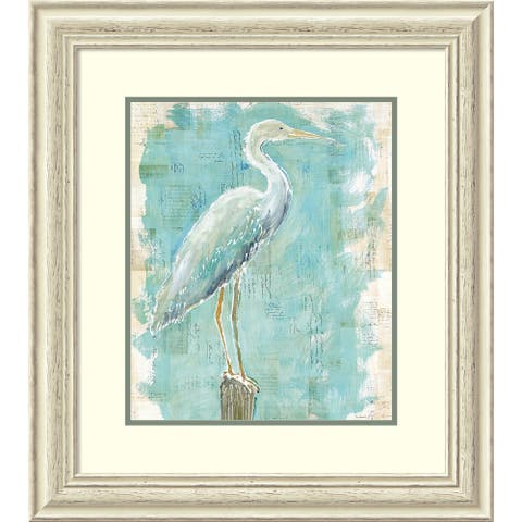 Framed Art Print 'Coastal Egret I v2' by Sue Schlabach 25 x 28-inch
