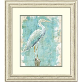 Framed Art Print 'Coastal Egret I v2' by Sue Schlabach 25 x 28-inch