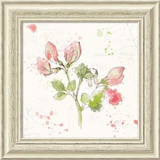 Framed Art Print 'Floral Splash II' by Katie Pertiet 19 x 19-inch