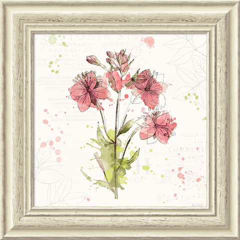 Framed Art Print 'Floral Splash V' by Katie Pertiet 19 x 19-inch