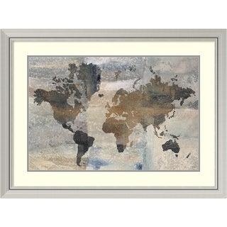 Framed Art Print 'Stone World (Map)' by Avery Tillmon 40 x 30-inch