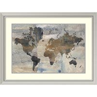 Framed Art Print 'Stone World (Map)' by Avery Tillmon 40 x 30-inch