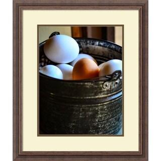 Framed Art Print 'One in the Bunch (Eggs)' by Matt Marten 22 x 26-inch