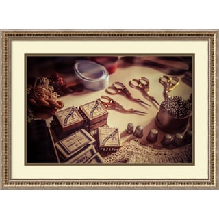 Framed Art Print 'Old World Sewing' by Matt Marten 26 x 19-inch