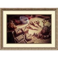 Framed Art Print 'Old World Sewing' by Matt Marten 27 x 20-inch