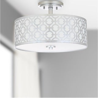Safavieh Lighting Vera 3-light Silver Flush Mount