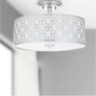 Safavieh Lighting 15.5-inch Vera 3-light Silver Flush Mount